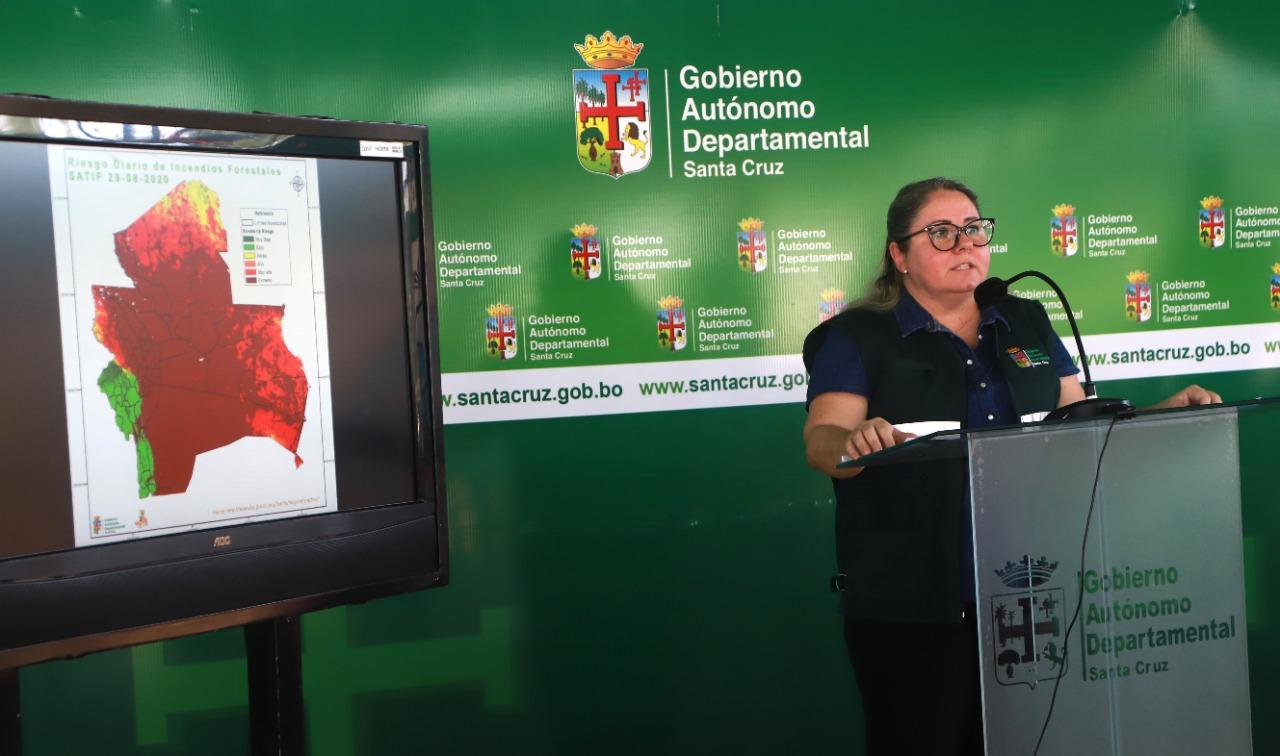 Comité de Crisis de la Gobernación de Santa Cruz reporta cinco incendios en el departamento