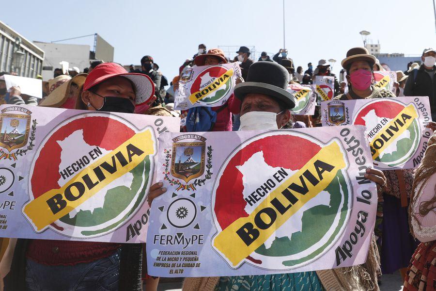 """Los empresarios industriales piden respaldo para fortalecer la política """"Hecho en Bolivia"""""""