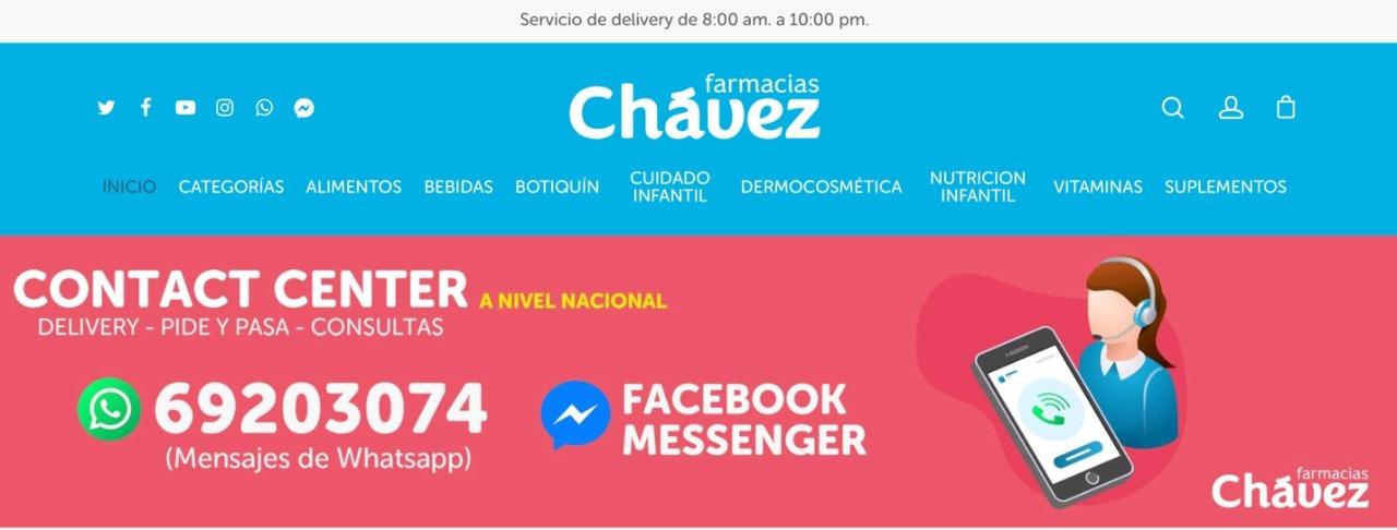 Farmacias Chávez habilita moderno canal de venta online