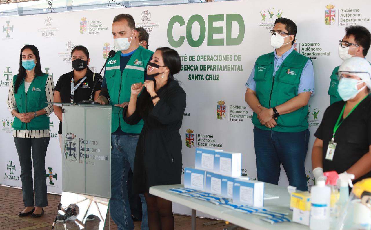 Gobernación de Santa Cruz realiza pruebas rápidas de Covid-19 a personal del TED