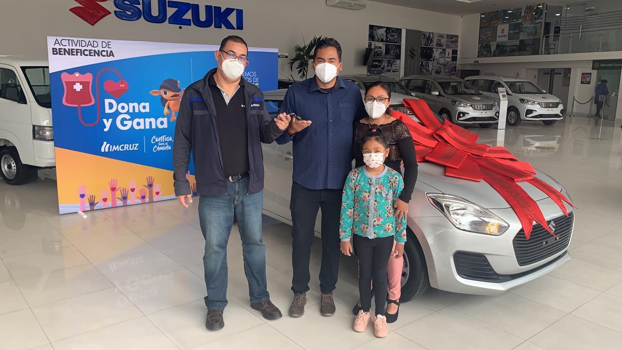 Donante de plasma ganó un cero kilómetros en campaña benéfica de Imcruz