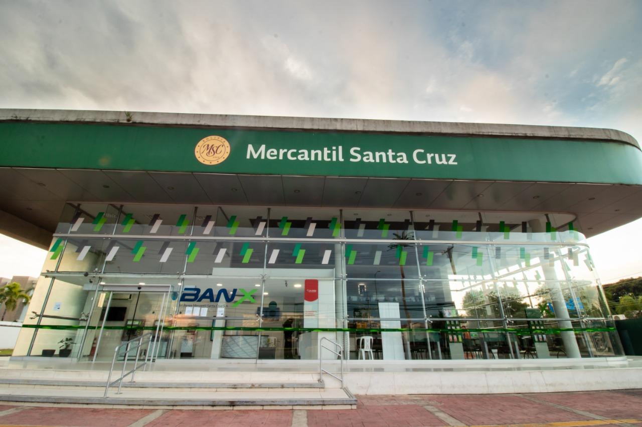 Durante el confinamiento el Banco Mercantil Santa Cruz registró más de 30 millones de transacciones