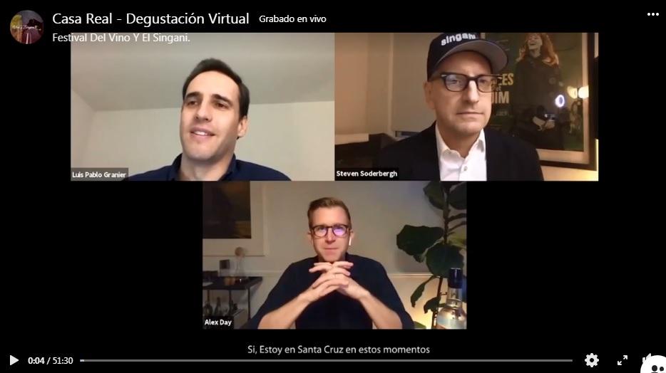 Casa Real organizó un encuentro virtual con el director de cine Steven Soderbergh, para dialogar acerca del Singani boliviano