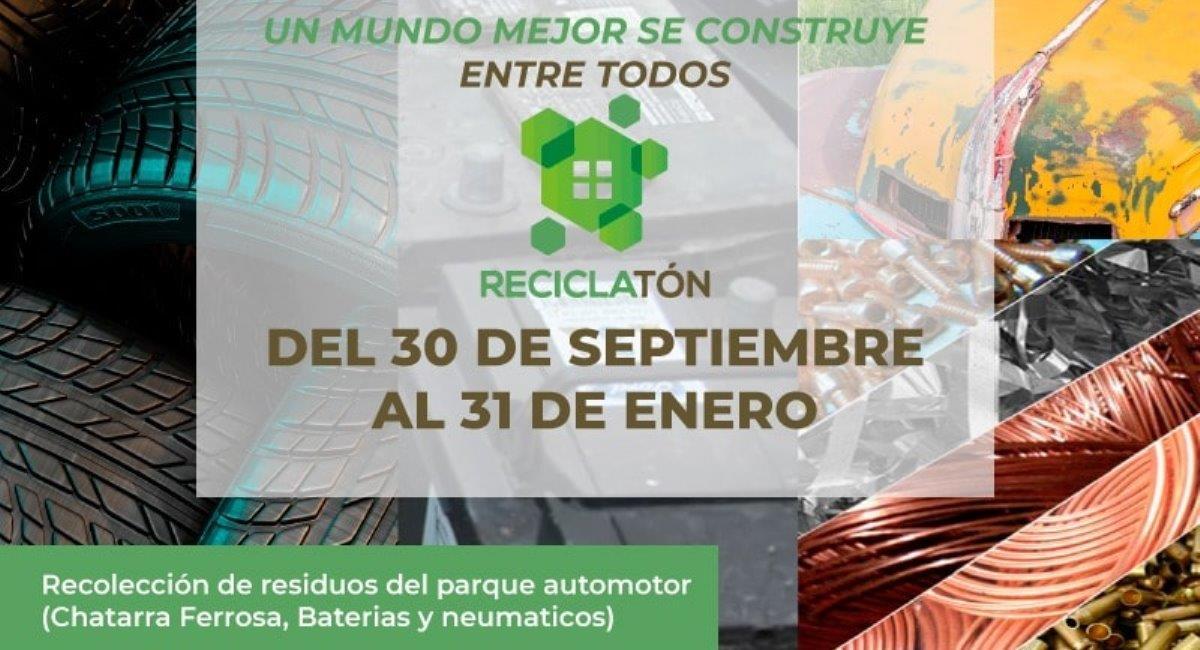 """Lanzan la campaña """"Reciclatón"""" para recolectar residuos del parque automotor"""