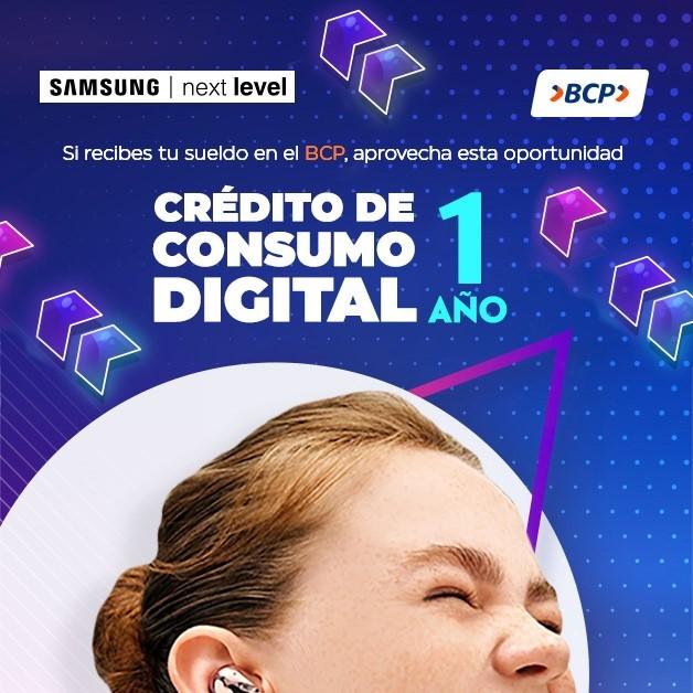 Alianza estratégica entre BCP y Next Level facilita el acceso a productos Samsung con créditos de consumo