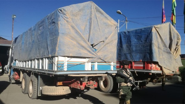 Escaneo aduanero detecta camión con artículos no declarados valuados en $us 114.000
