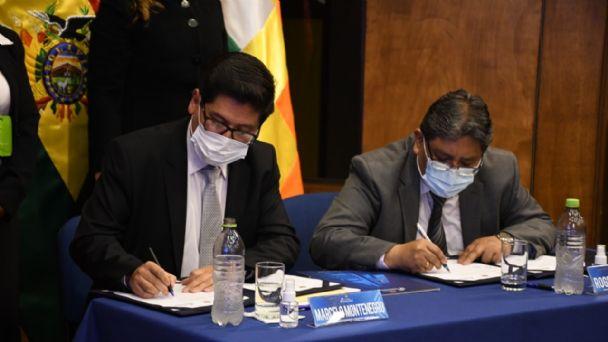 Ministerio de Economía y BCB firman el Programa Financiero 2020 para la reconstrucción económica