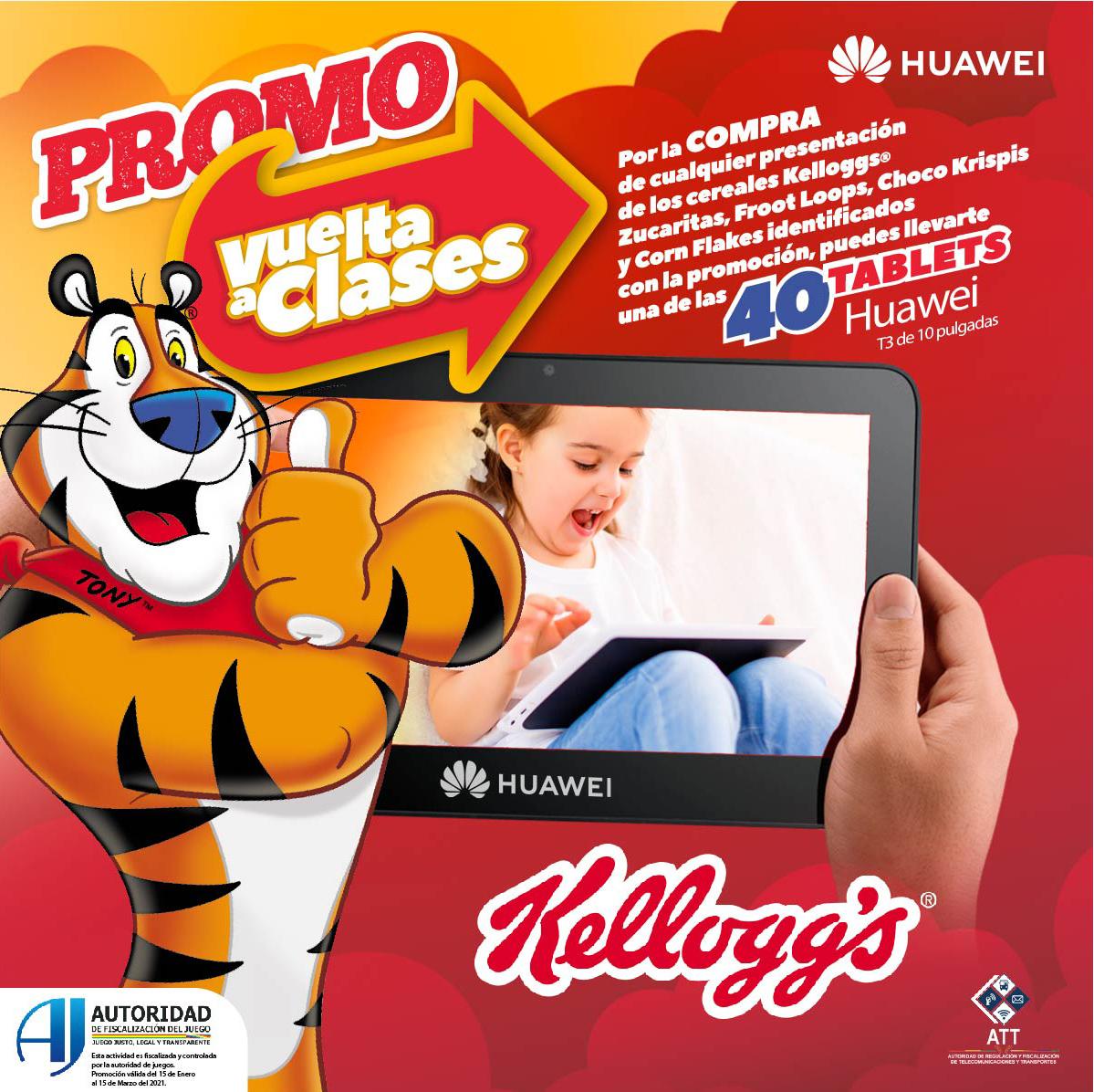 Kellogg's y Huawei se unen a través de una campaña para promover el aprendizaje de los niños bolivianos desde casa