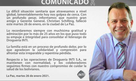 Christian Schilling: el líder detrás de la farmacéutica más grande y moderna de Bolivia