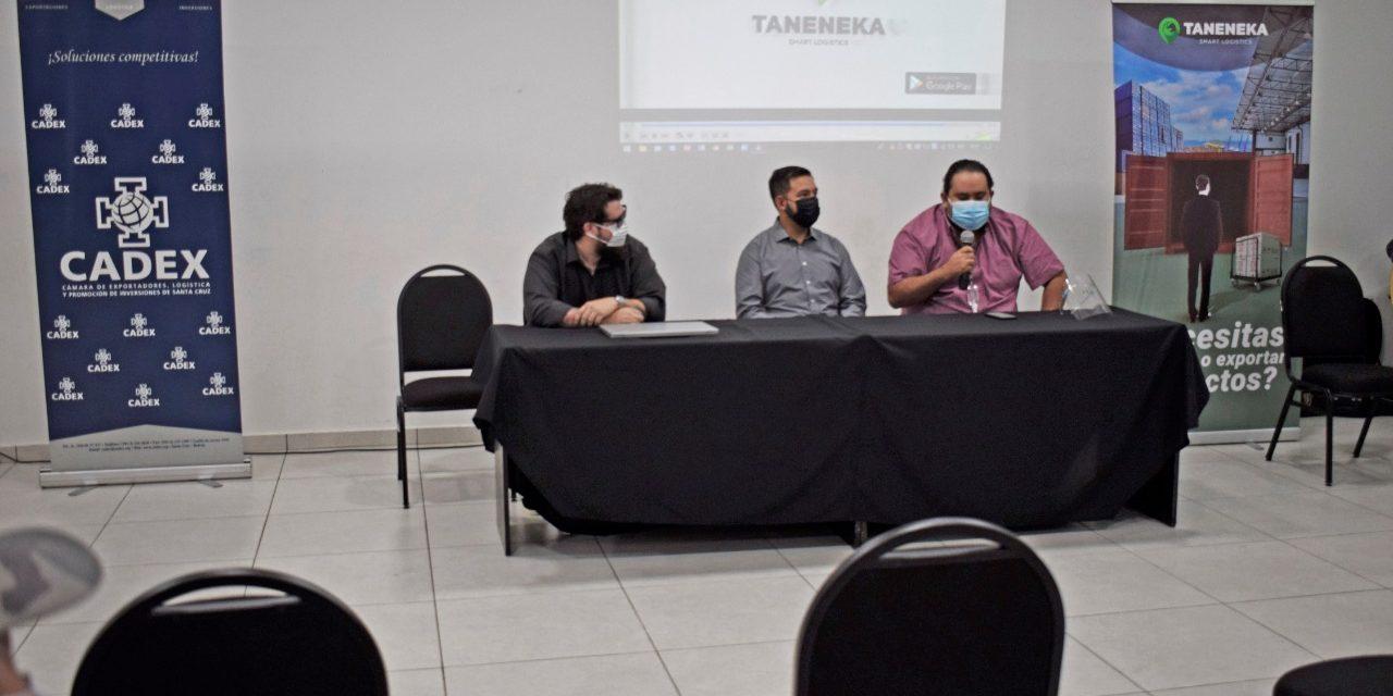 """Lanzan """"Taneneka"""", la primera plataforma digital de logistica y transporte internacional en Bolivia"""
