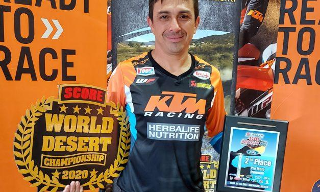 Chavo Salvatierra subió al podio en la primera fecha del Campeonato Mundial del Desierto
