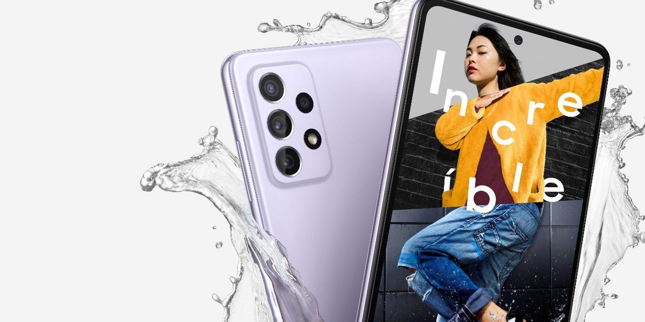 Los celulares Galaxy A52 y A72 están garantizados para resistir al agua y polvo