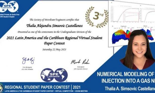 Estudiante UPSA gana tercer lugar en el Regional Student Paper Contest