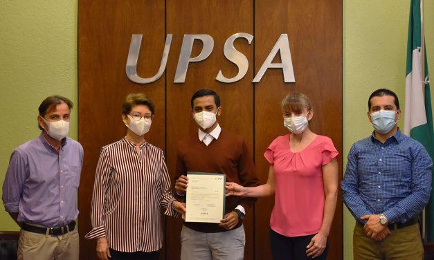 Estudiante UPSA ganó concurso de la CAF 'Ideas Para el Futuro'
