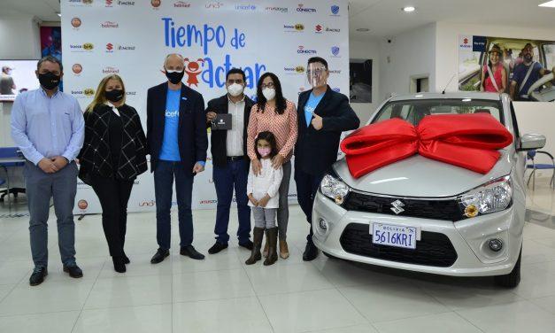 Imcruz y Suzuki entregan auto cero kilómetros a donante de la campaña 'Tiempo de Actuar'
