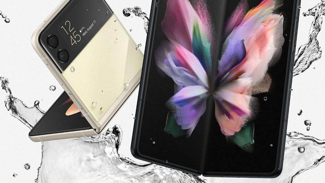 Samsung Galaxy Z Fold 3 y Z Flip 3 son los primeros celulares plegables resistentes al agua