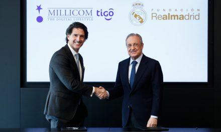 Alianza entre la Fundación Real Madrid y Millicom-TIGO para proyectos sociodeportivos en Latinoamérica.